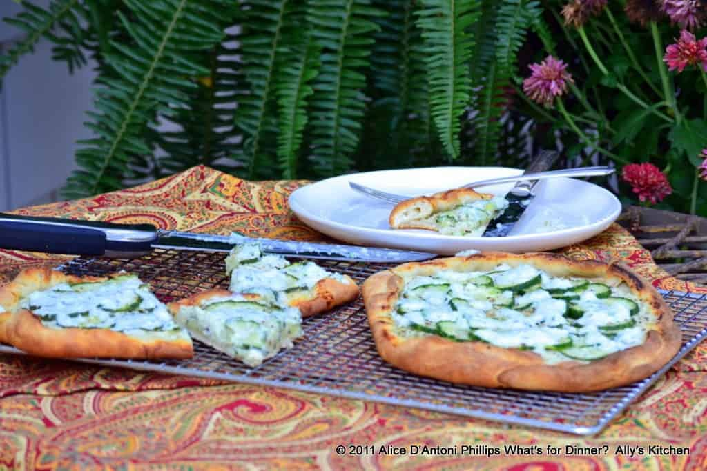 English Cucumber Galette