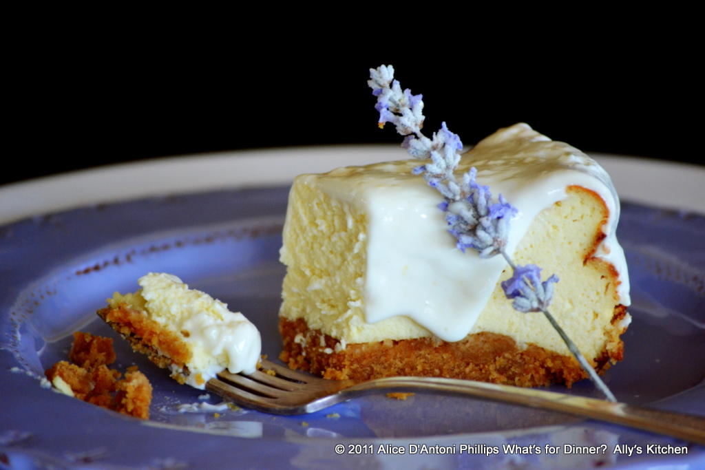lavender lemon cheesecake