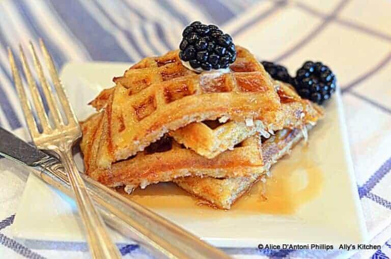 Sweet Potato Cardamom Dessert Waffles