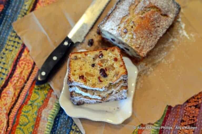 Applesauce Coconut Cranberry Walnut Bread