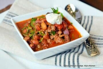 Spicy Chunky Anasazi Bean Chili