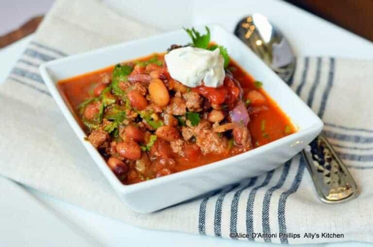 Spicy Chunky Anasazi Chili Beans