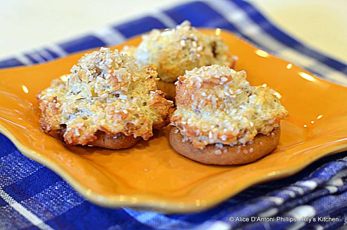 Raisin Almond Cookie Puffs