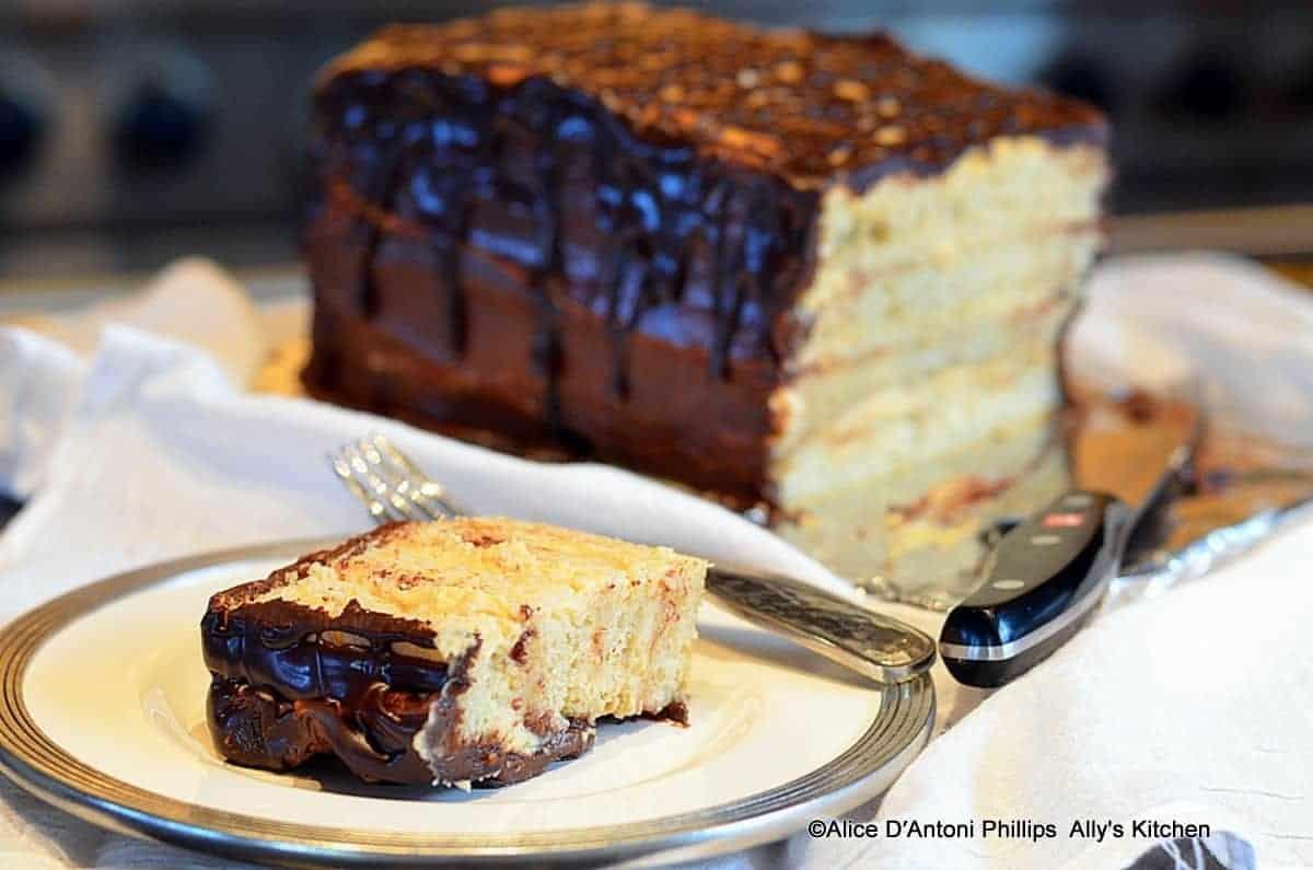 Four-Layer Boston Cream Cake
