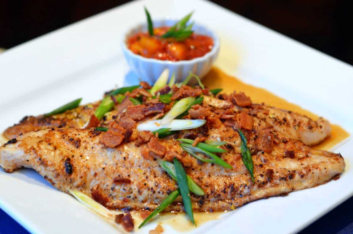 Pan Grilled Bacon Crumbled Catfish Filets