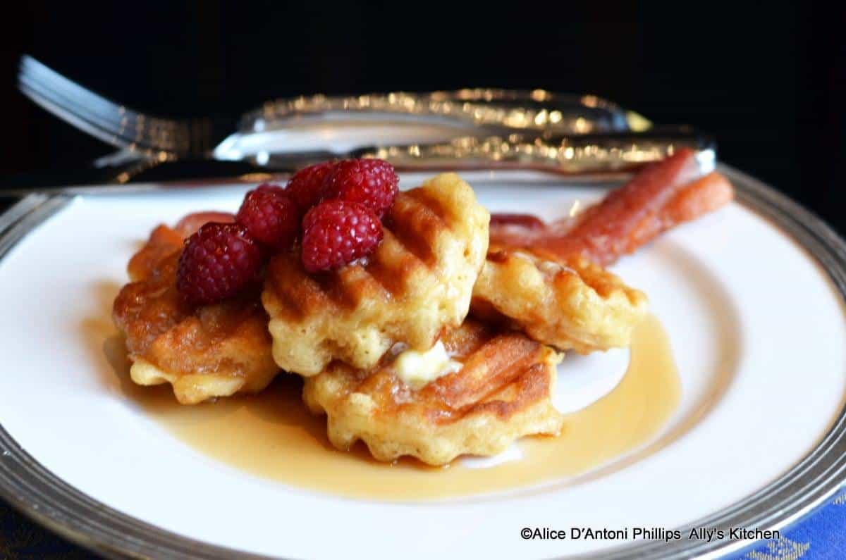 Crispy Pancake Babies with Fresh Raspberries