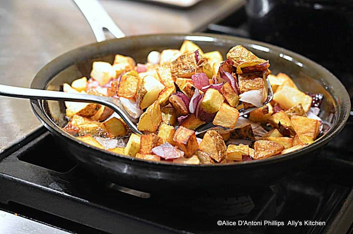 Fried Potatoes with Herbs & Red Onions