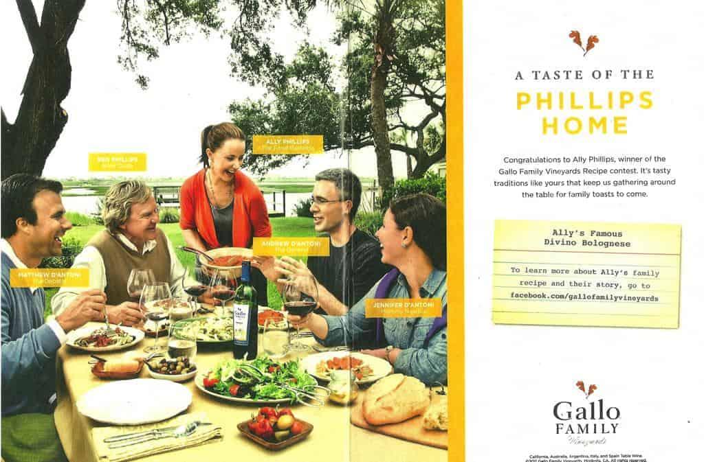 Bohemian Bolognese~~Gallo Family Vineyards Winning Recipe