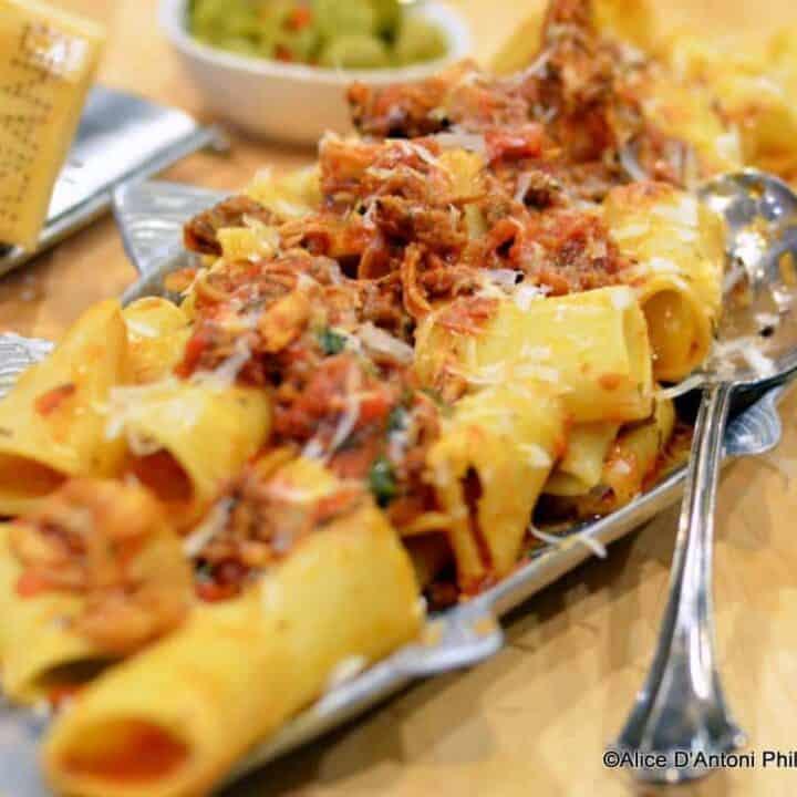 Rigatoni with Smoked Italian Sausage & Chicken