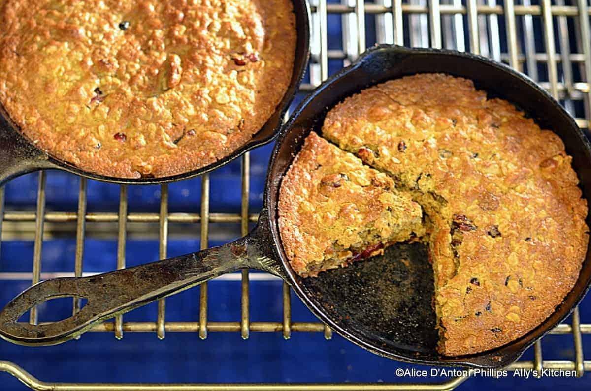 Oatmeal Cranberry Nut Breakfast Cake (Gluten Free)