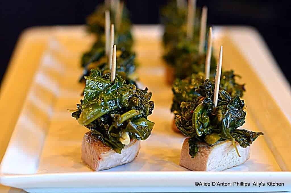 pork chop & mustard greens