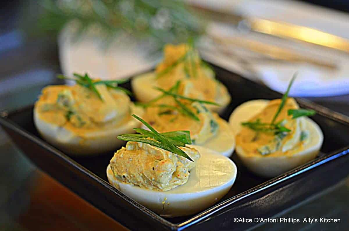 Wicked Smokey Bacon Deviled Eggs