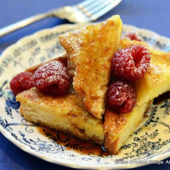 Crispy French Toast & Grilled Brown Sugar Apple Slices