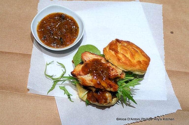 chicken sliders & apricot mustard sauce
