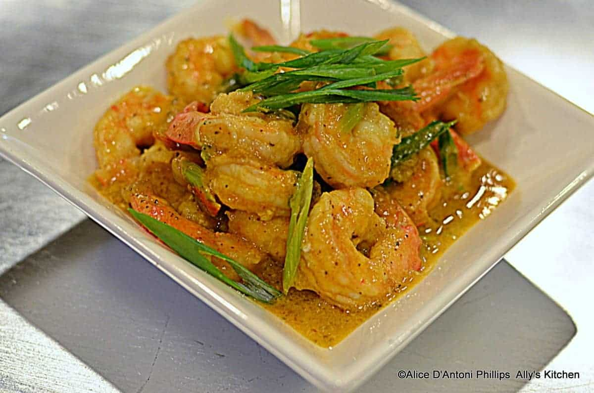 Madras Curry Shrimp with Green Onions