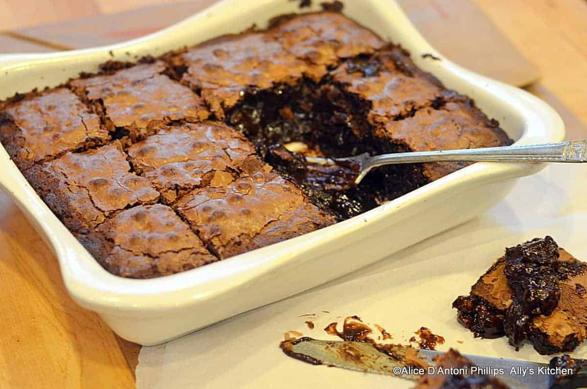 Lava Double Nut Brownies