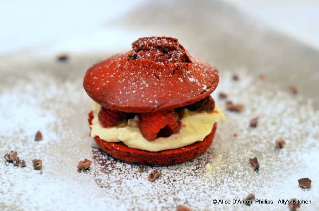 Spicy Chocolate Red Dragon Cookie Sandwich