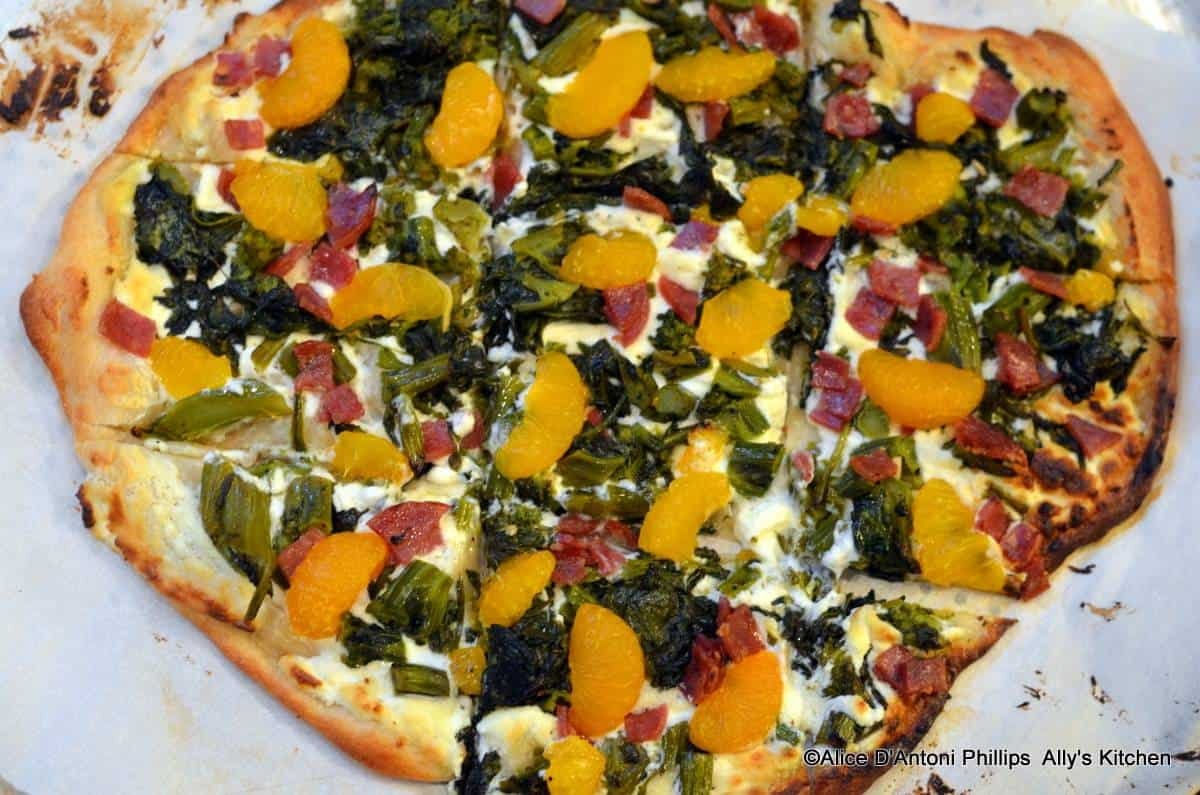 Broccolini Mandarin Orange Pizza
