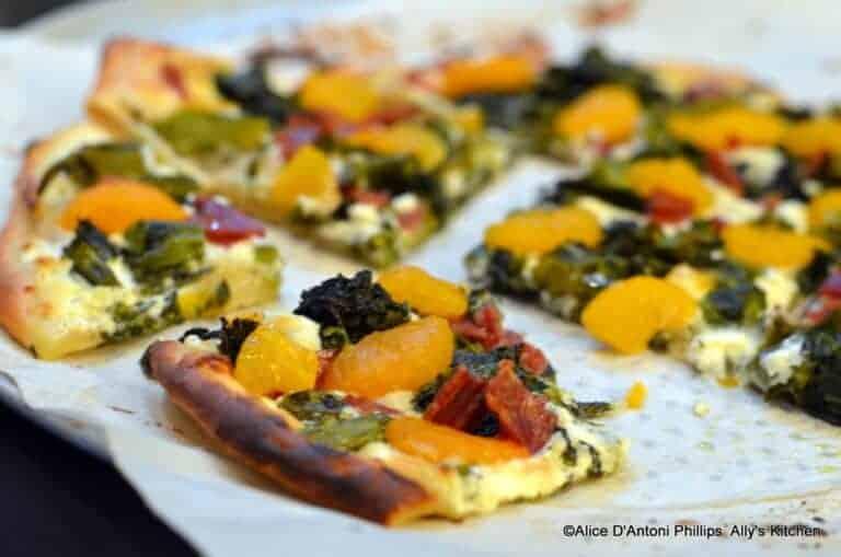broccolini mandarin orange pizza