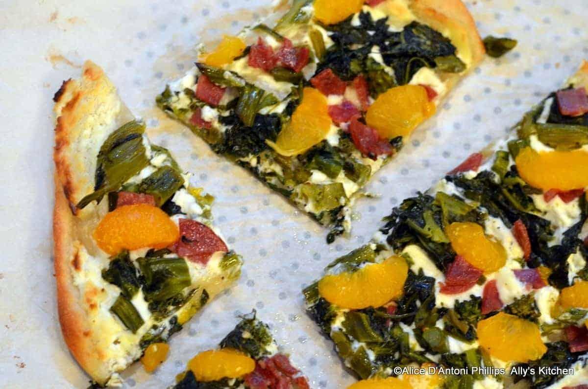 broccolini mandarin orange pizza|pizza recipes|ally's kitchen