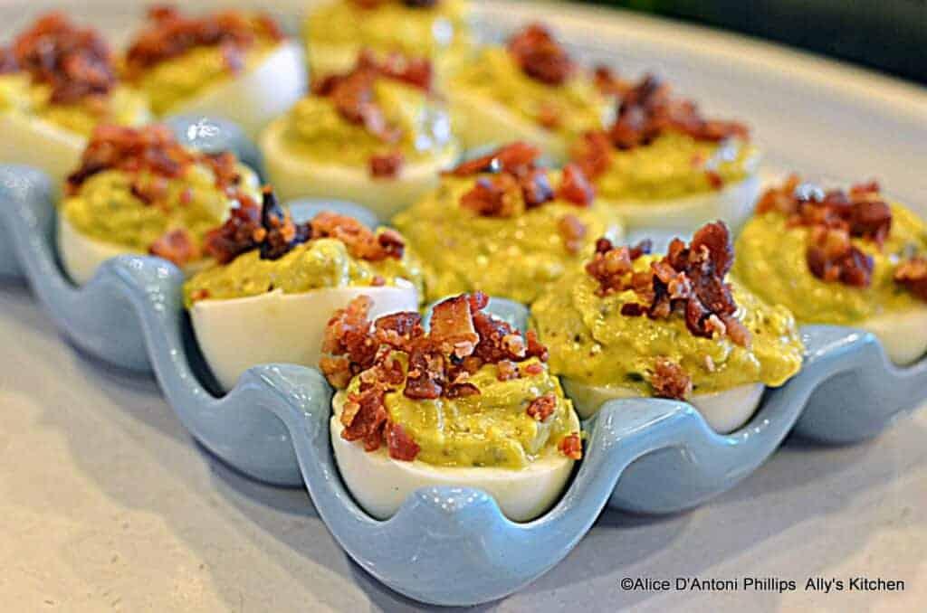 Spicy Jalapeno Bacon Deviled Eggs