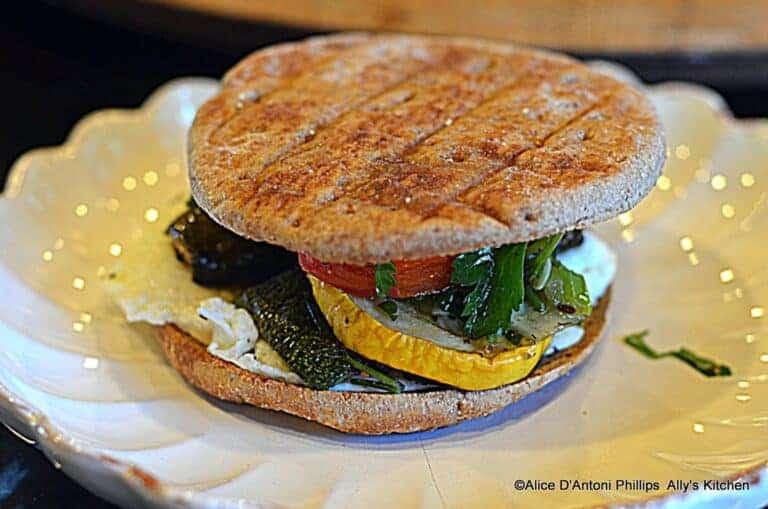 Roasted Veggie Egg Sandwich