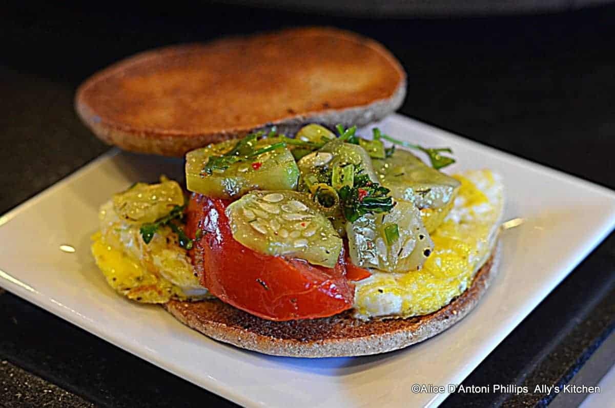 Roasted Veggie Egg Sandwich