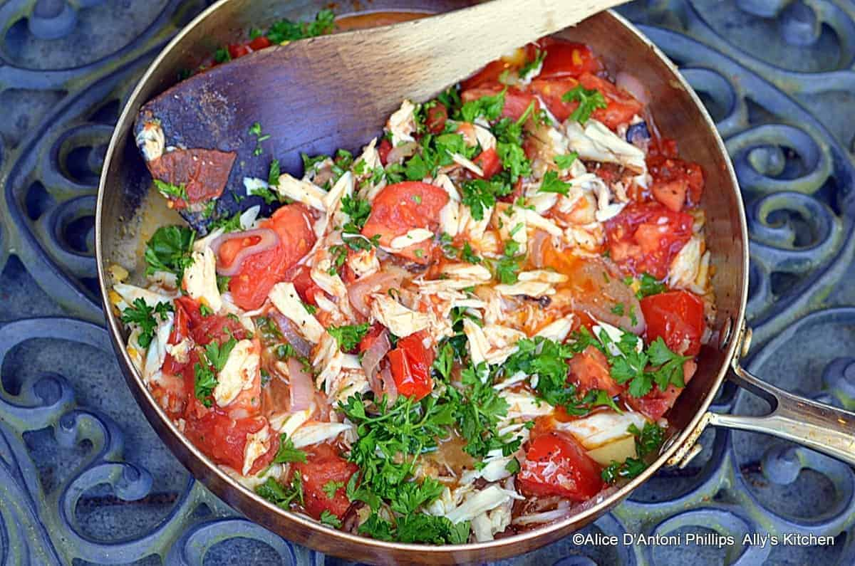 Fresh Crab & Campari Tomatoes