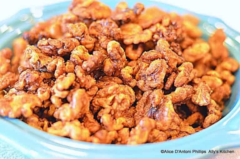 sea salt cinnamon roasted walnuts