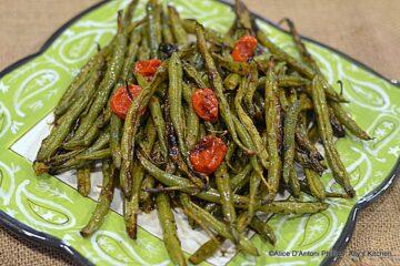 Charred & Roasted Fresh Green Beans