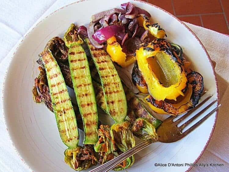 pan grilled vegetables