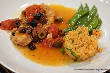 Cumin-Infused Pan Seared Chicken with Fresh Tomatoes & Olives