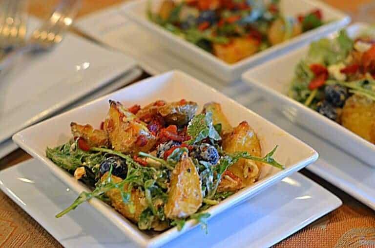 blueberry potato salad