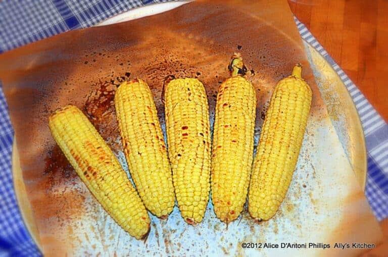 Cumin & Ancho Chili Oven Roasted Corn on the Cob