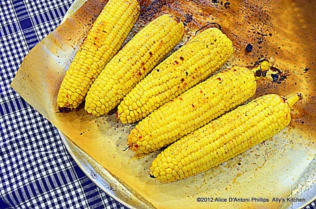 Cumin & Ancho Chili Oven Roasted Corn on the Cob