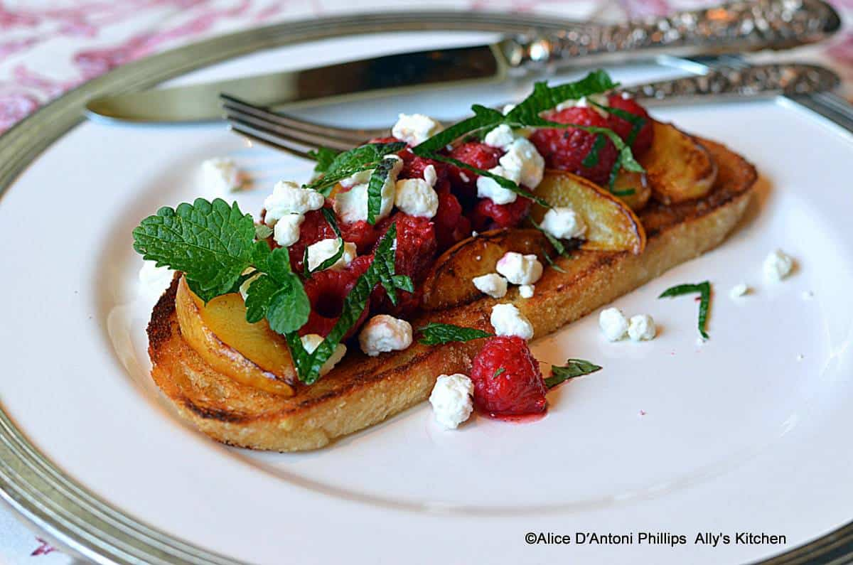 Grilled Fruit Sourdough French Toast
