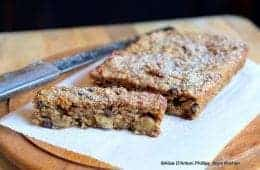 Applesauce Currant Walnut Bread