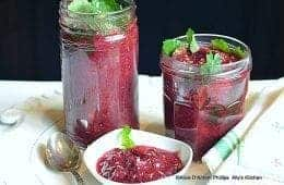 Rhubarb Raspberry Lemon Mint Sauce