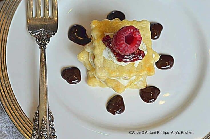 Raspberry Vanilla Mille Feuille