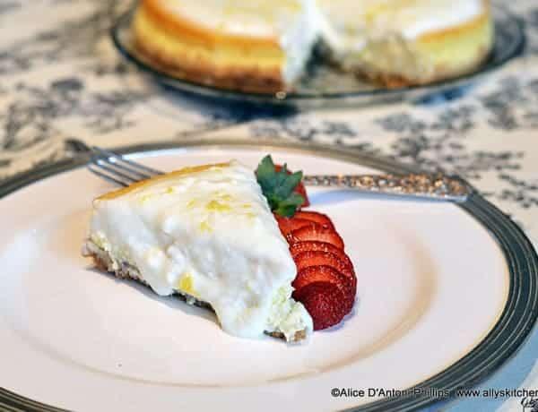 Lemon Cottage Cheesecake