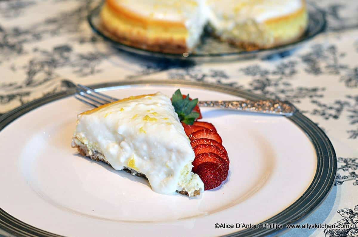 Lemon Cottage Cheesecake