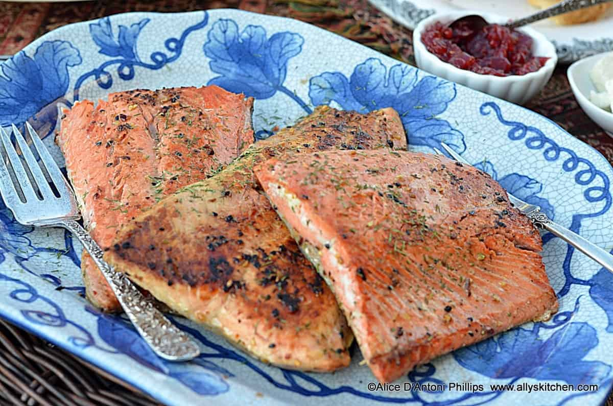 sweet ginger sockeye salmon