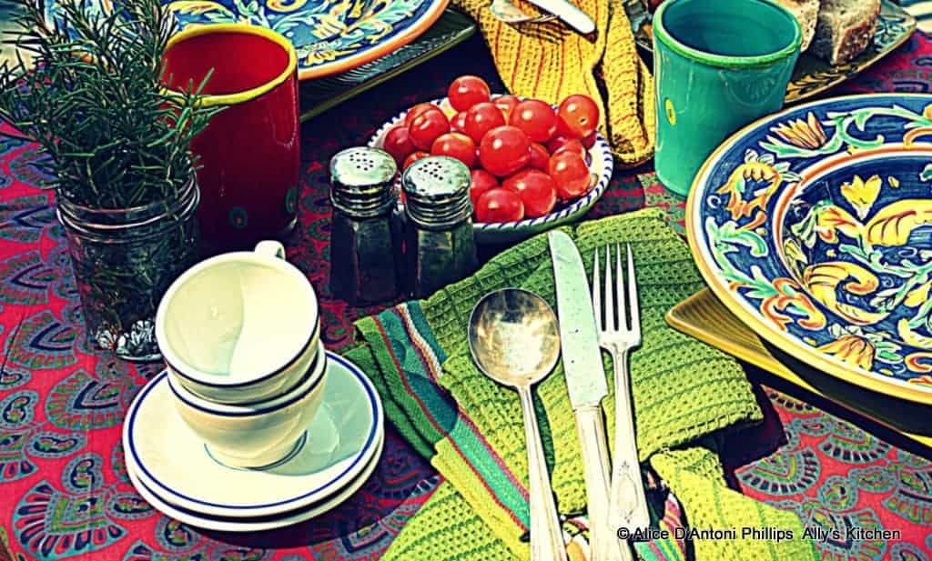 boho dining~~on your own porch, deck, patio, yard~~where