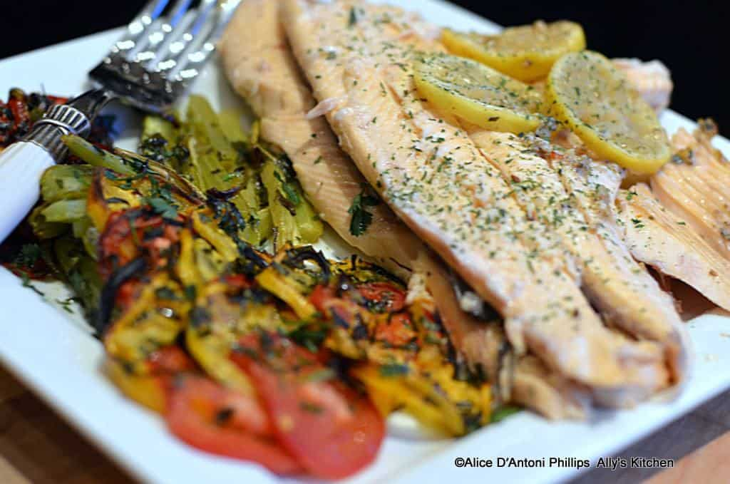 Oven Roasted Fresh Herb Mountain Trout