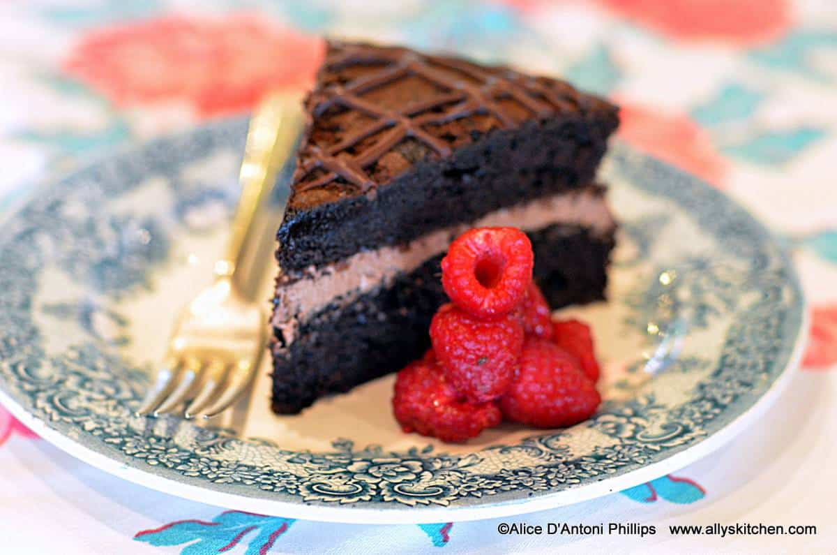 Chocolate Whipped Crème Filled Tart Cake