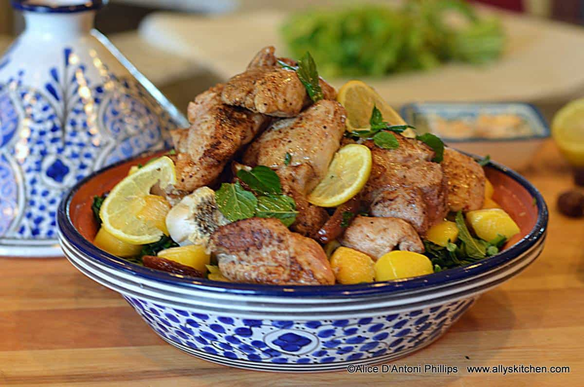 Tagine of Pork and Greens