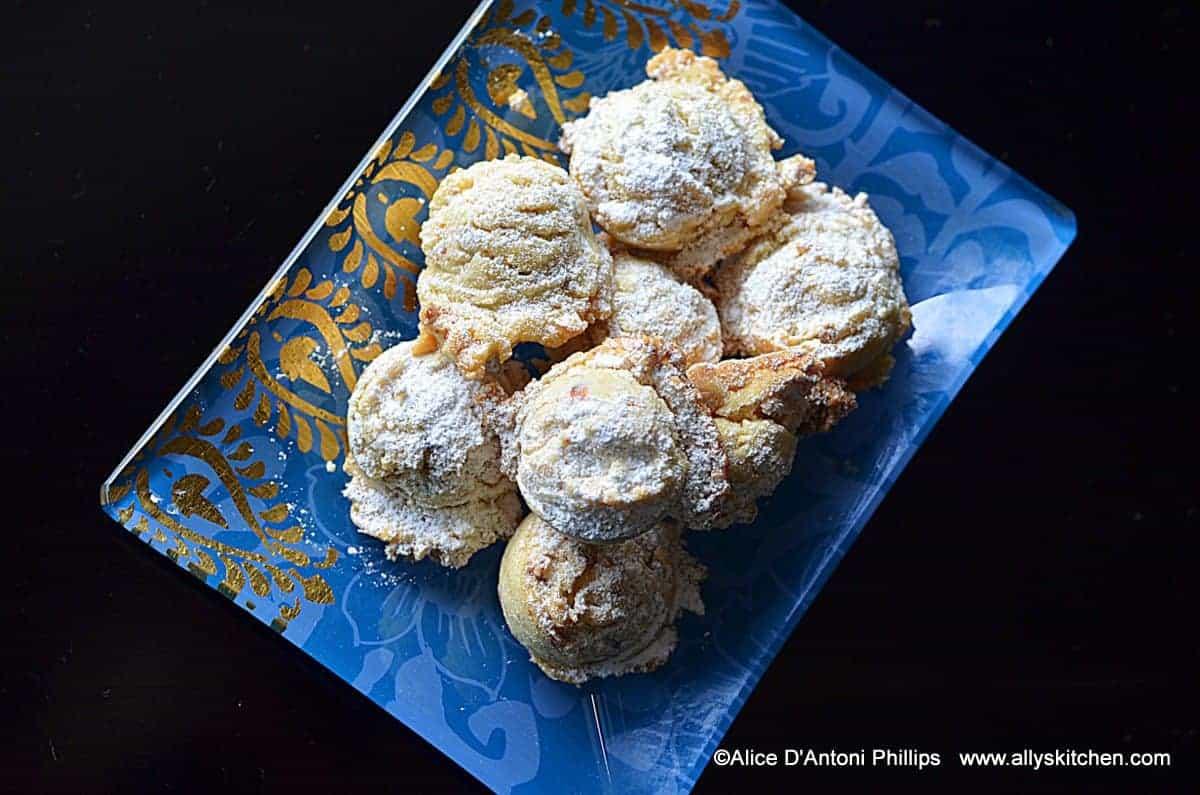 Orange Almond Wedding Cookies