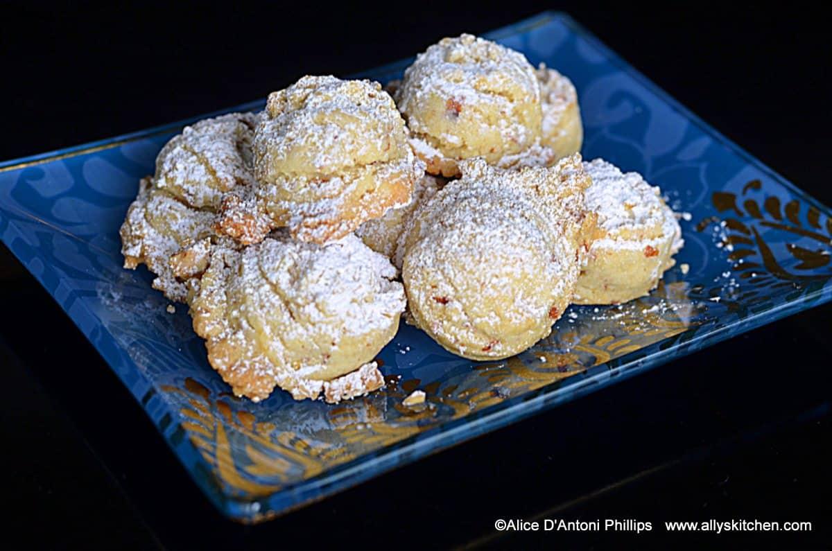 orange almond wedding cookie