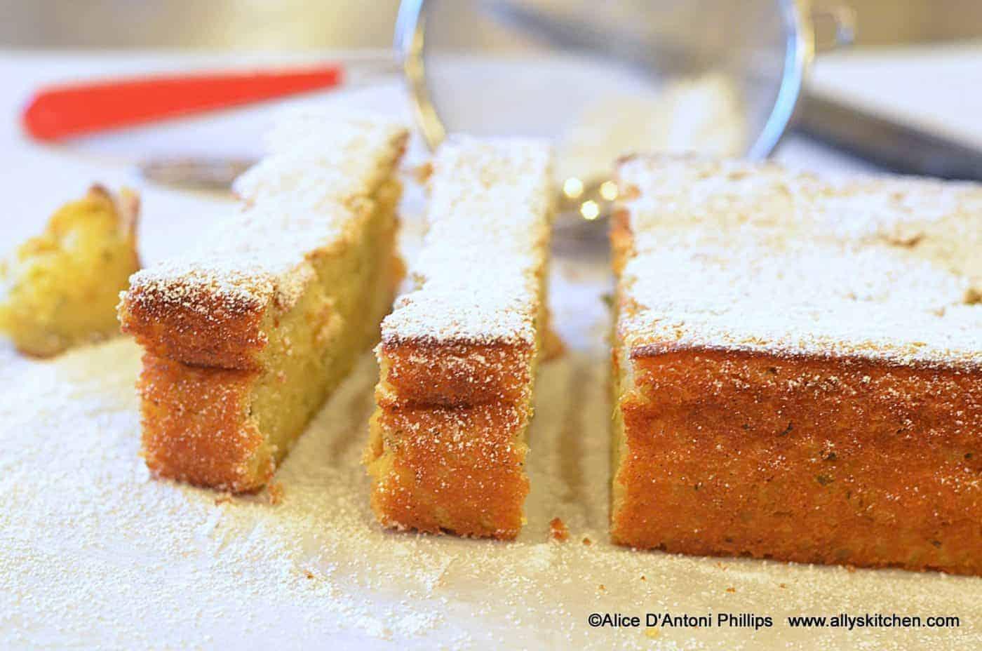 Lemon Fresh Herb Pudding Cake