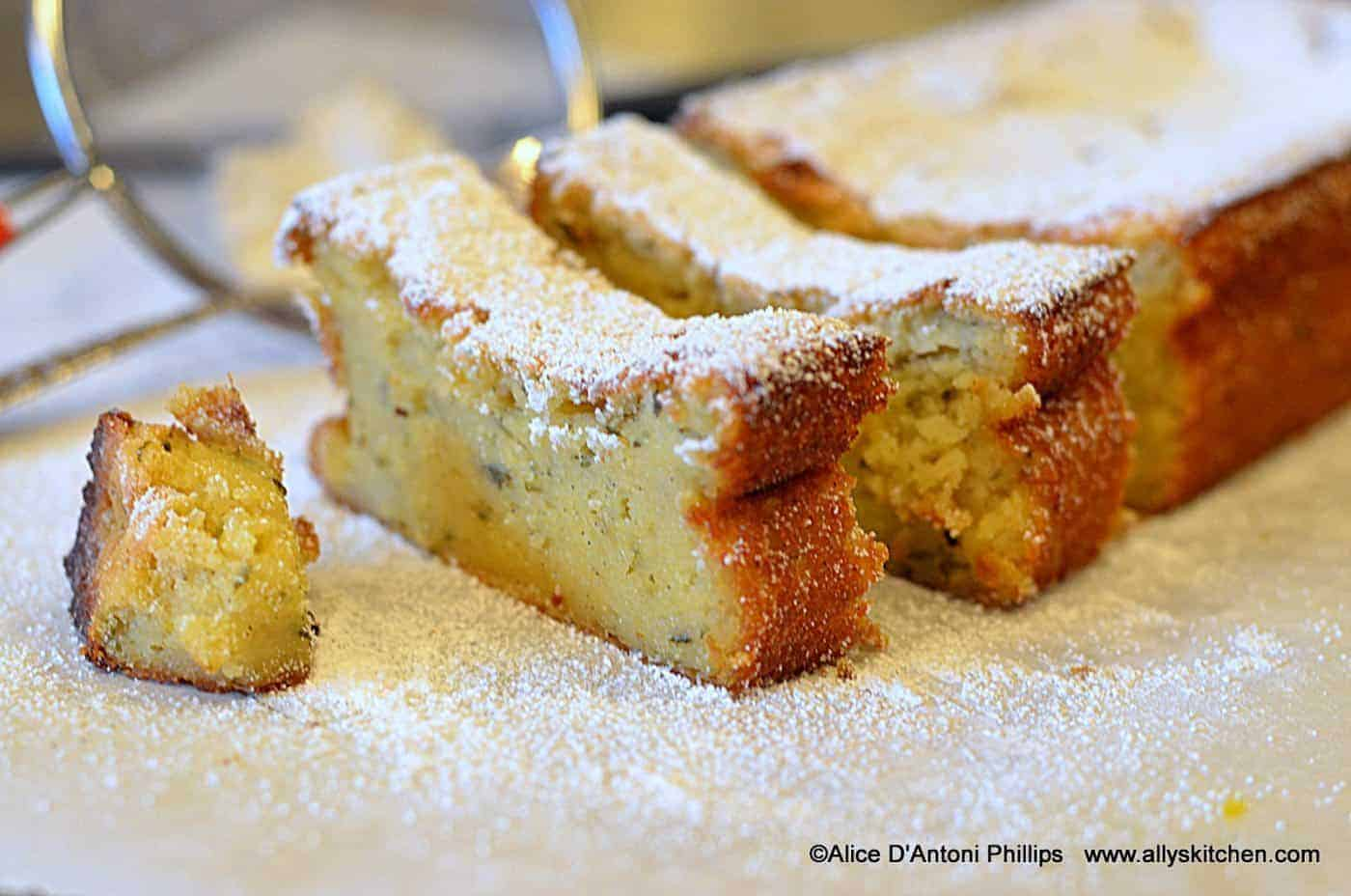 Lemon Fresh Herb Pudding Cake